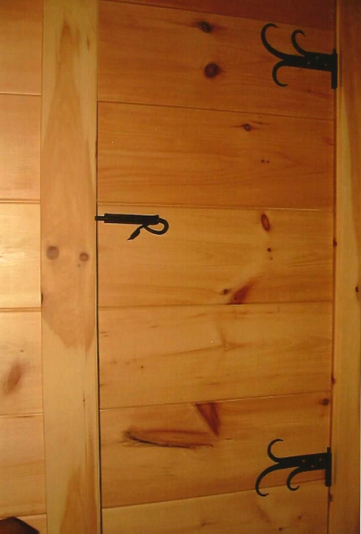 Closet Door Hinges and Latch / Slide Bolt, Brad Greenwood Designs