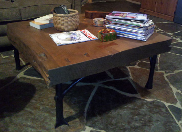 Steel & Pine Coffee Table, Walnut stain, Brad Greenwood Designs