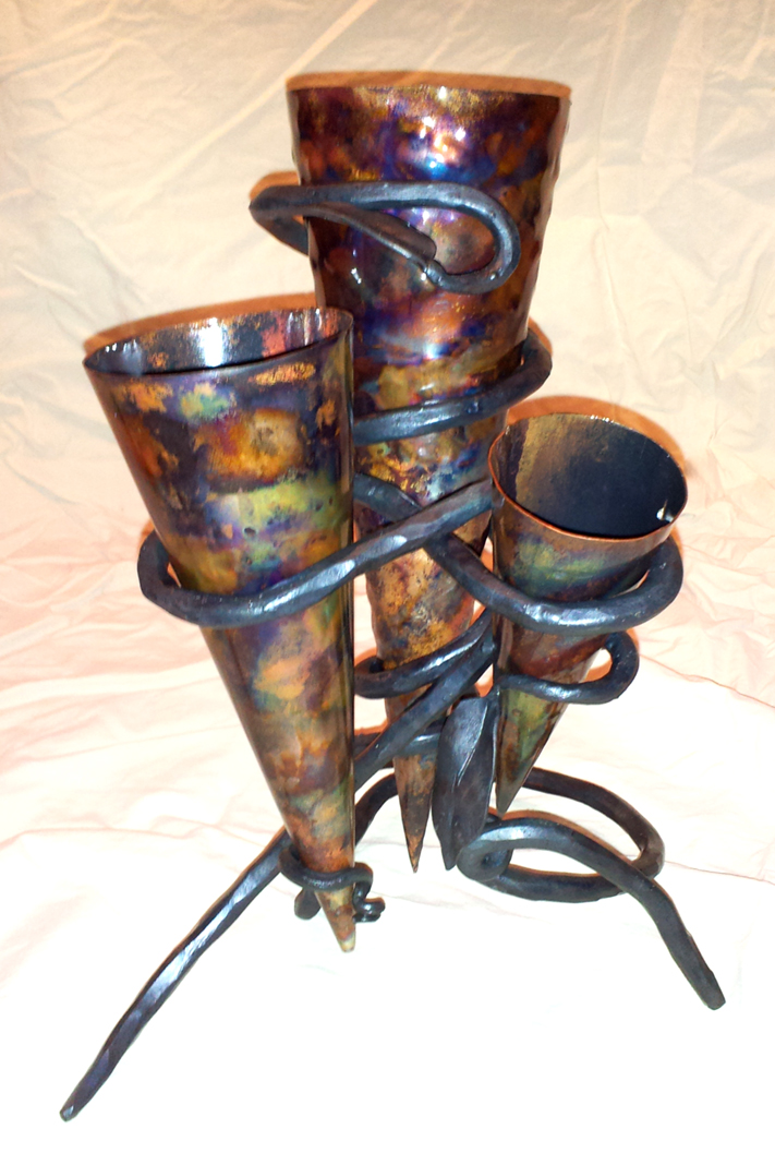 Cone Vessels w/Holder, Brad Greenwood Designs