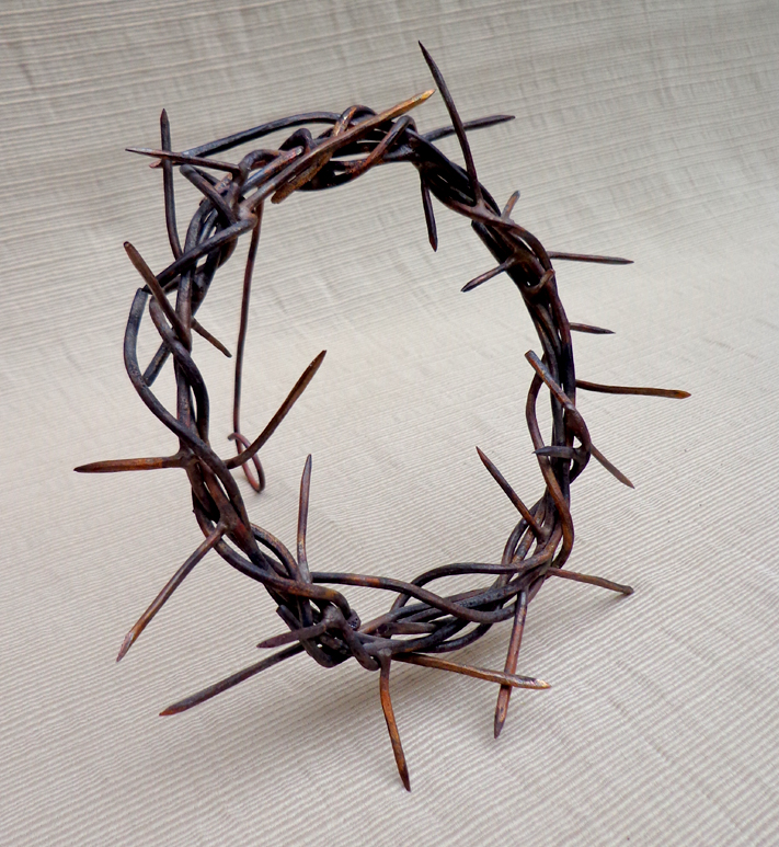 Copper Crown of Thorns on Easel, Brad Greenwood Designs