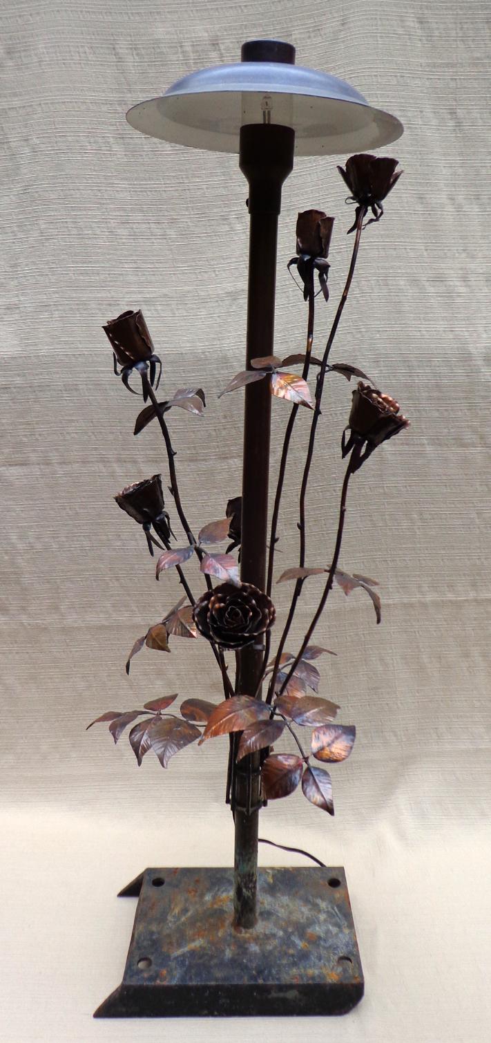 Copper Rose Bush Landscape Light