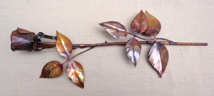 Single Copper Rose Bud