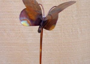Simple Copper Garden Art Small Butterfly Brad Greenwood Designs Throughout Inspiration Decorating