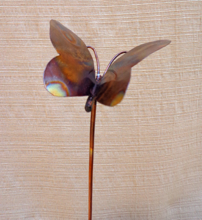 Small Copper Butterfly, Garden Art, Brad Greenwood Designs