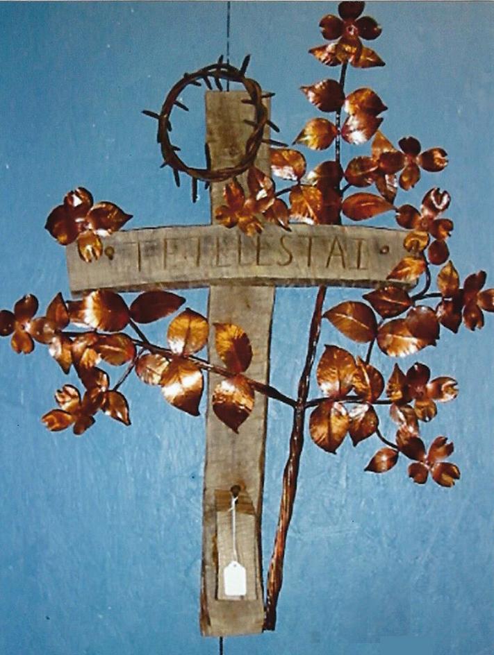 Dogwood Cross w/Crown of Thorns, Brad Greenwood Designs
