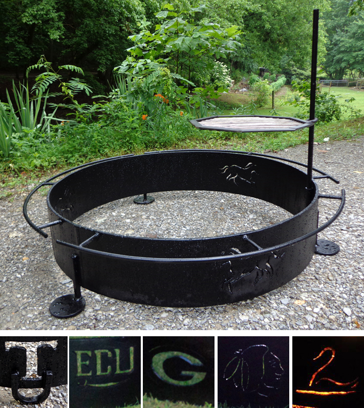 Custom Fire Ring with Design Cutouts, Brad Greenwood Designs