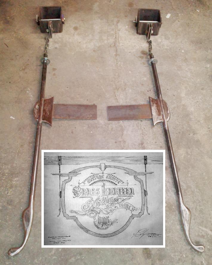 Large Hanging Sign Holders, Brad Greenwood Designs
