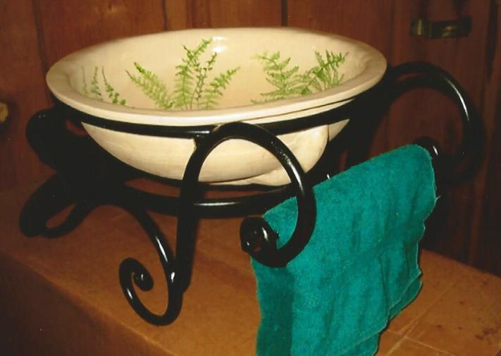 Sink Holder w/ Towel Bar, Brad Greenwood Designs