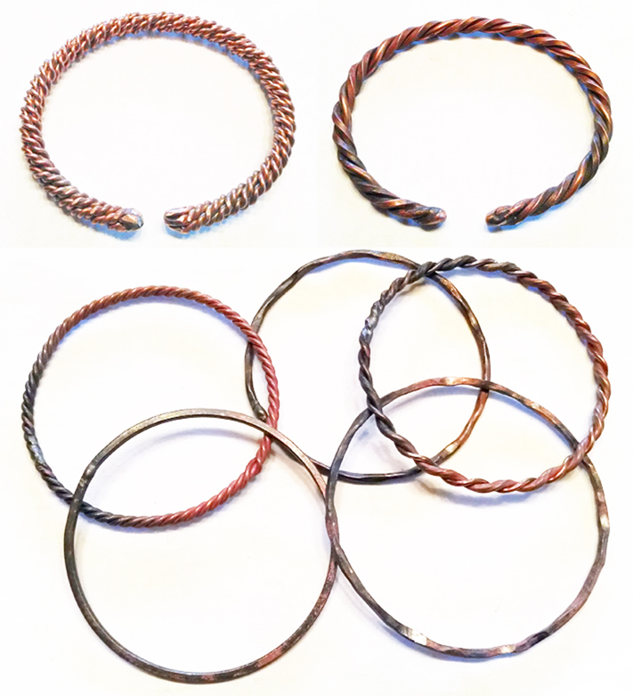 Custom Copper Bangles and Cuffs | BradGreenwoodDesigns.com