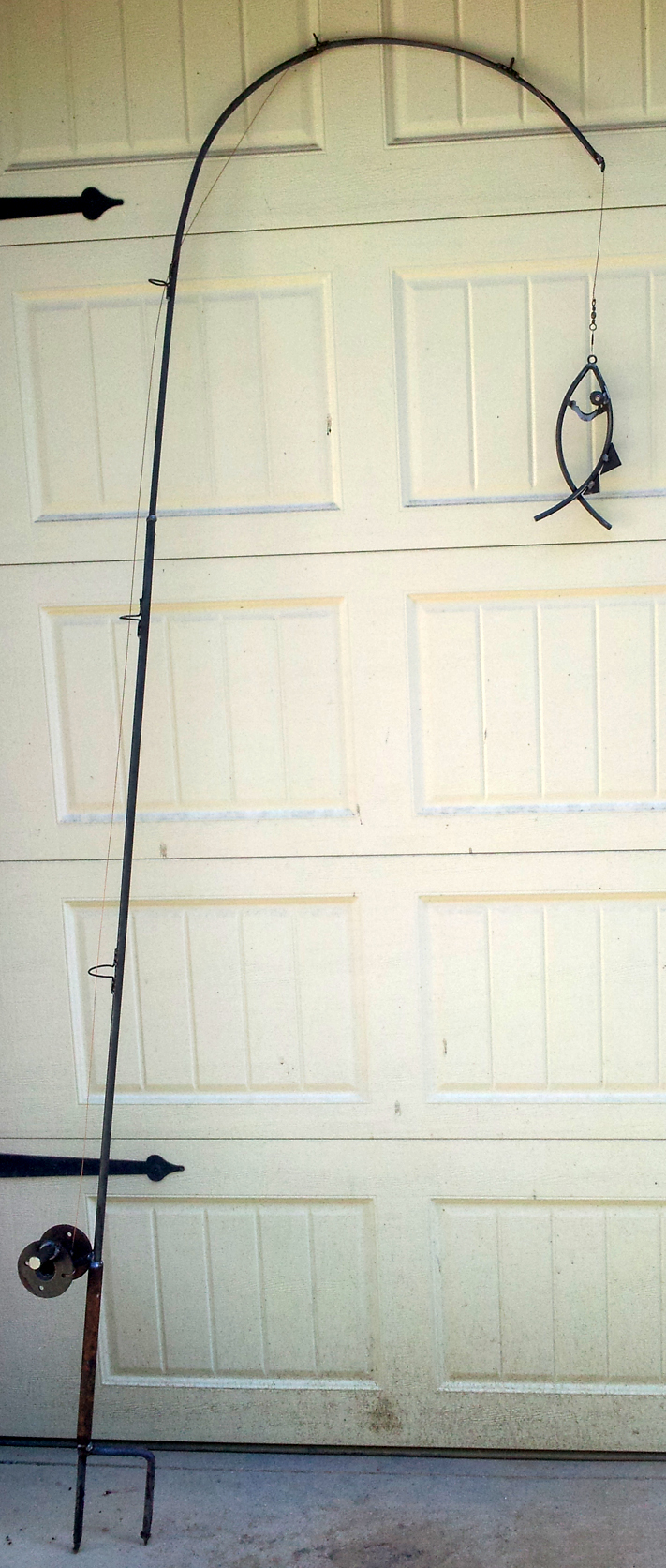 Custom Steel Fishing Pole Hanger: BradGreenwoodDesigns.com