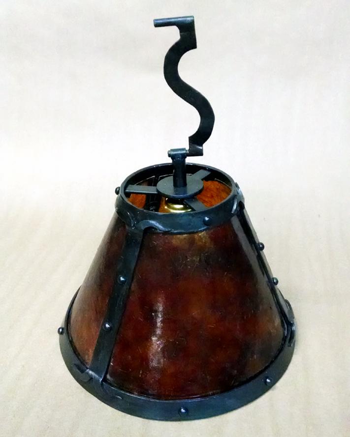 Custom Forged Steel Lamp Shade | BradGreenwoodDesigns.com