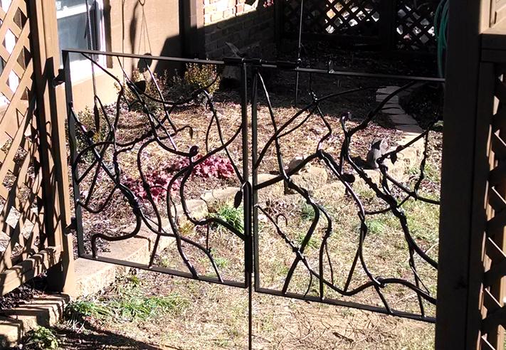Custom hand forged Vine Design Garden Gates | BradGreenwoodDesigns.com